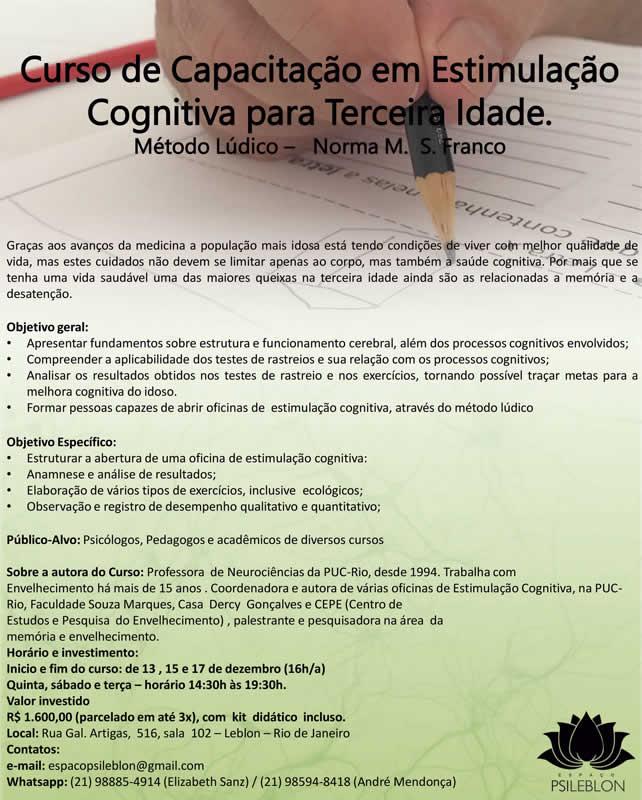Curso de Capacitação para Estimulação Cognitiva